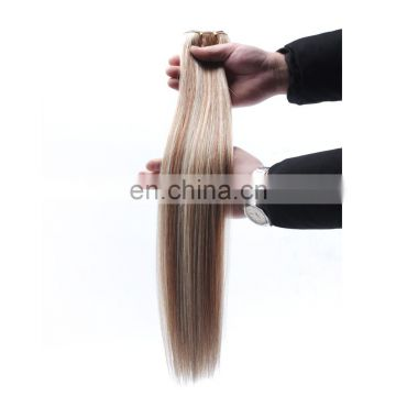 Wholesale virgin hair mixed colored brazilian hair weave