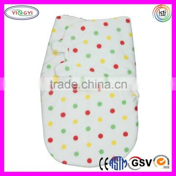 C681 Lovely Baby Swaddle Polyester Fleece Blanket Swaddle Wrap Newborn Microfiber Polyester Blanket