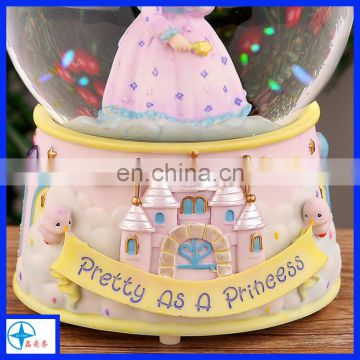 resin snow globe gift for girls
