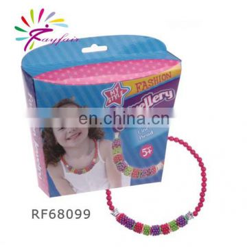 NEW!Fashion jewellery kit-DIY beads set /make your own necklace/diy necklace kit for kids -68099