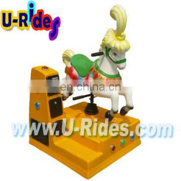 White horse kiddie ride