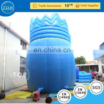Top inflatable bear water slide with poor