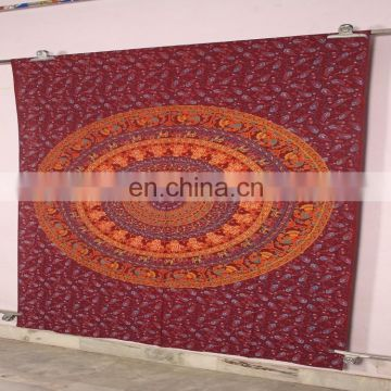Cheap Indian Bohemian Printed Wholesale Elephant Mandala Wall Tapestry Living Room Decor