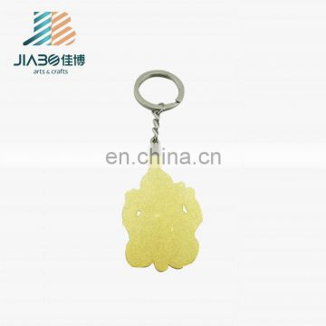 3D Buddha custom gold plating keychain for wholesale