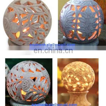 Soapstone Carved Candle Lamps