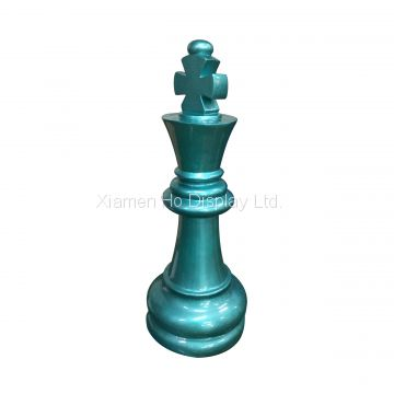 Boutique Decorative Props Fiberglass International Large Electroplating Chess Set for sale