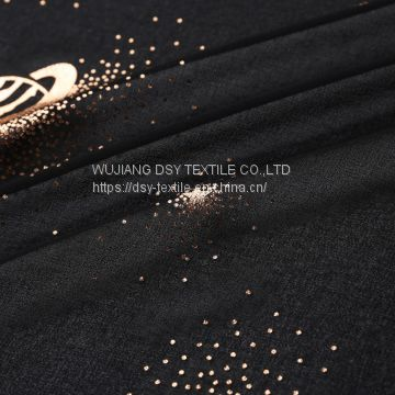 chiffon fabric  silk fabric gold blocking fabric