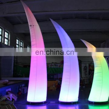 a Full color printing inflatable pillar with LED lights