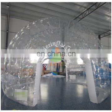 Transparent inflatable clear bubble advertisting tent for sale