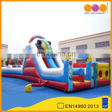 hot sale inflatable kids obstacle courses inflatable tunnle obstacle slide with free EN14960 certificate