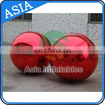 Decorate Glowing Inflatable Advertising Balloon / Disco Ball Balloon Mirror