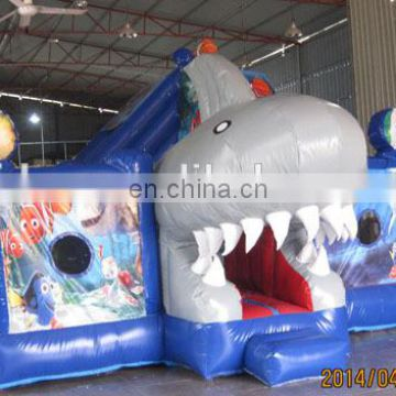 Empire inflatable shark combo bouncer NC057