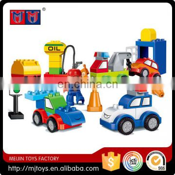 Funny series educational toys for kids 2016 newest car story building block set