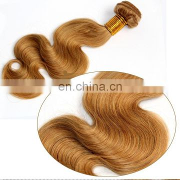 Unprocessed virgin european human hair extension natural blonde color body wave european hair weaving wholesale price