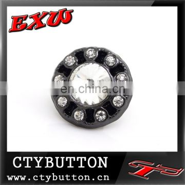 CTY-RO(128) rhinestone and matt color metal buttons