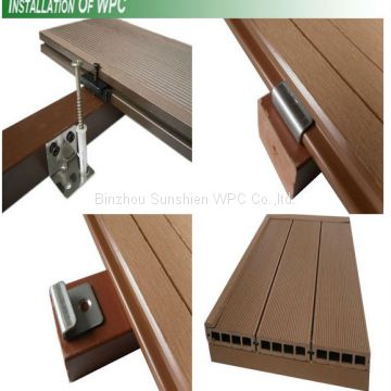 Sunshien WPC Wood plastic composite decking for outdoor