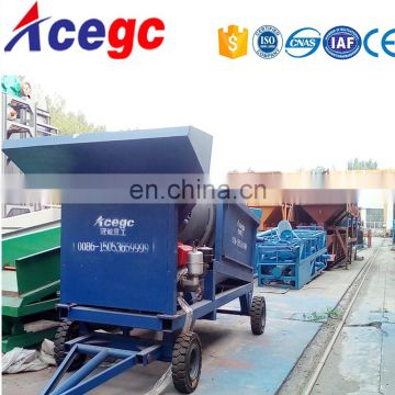 Mobile gold mining trommel plant for alluvial gold placer
