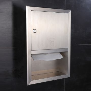 Business Paper Towel Dispenser Recessed Stainless Steel