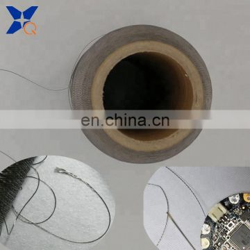pure 316L stainless steel fiber filaments twist thread 13micron-100filaments-3plies for wearable garments-XTAA077