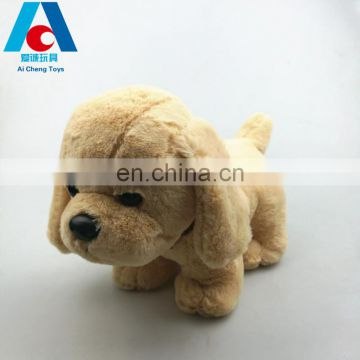 soft long plush stuffed toy green pv plush dog for promotion gifts