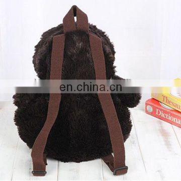 cute 3D schooll bag back packs penguin plush kid toy