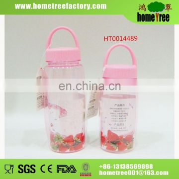 Hot Sale Safety Rotary Lid Clear Plastic Baby Drinking Water Bottle With Handle