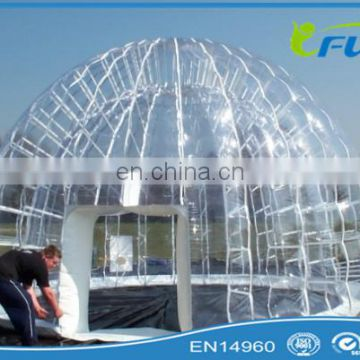 PVC Bubble Inflatable Yard Tent Transparent Camping Tent/Hot Large Inflatable tent/inflatable lawn tent