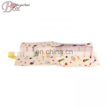 Good Quality Fruit Printing Foldable Gift Packing Box with Handle
