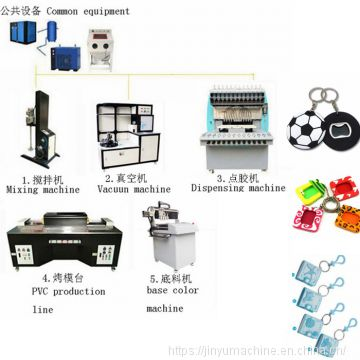 Jinyu hot selling pvc keychain dispensing machine