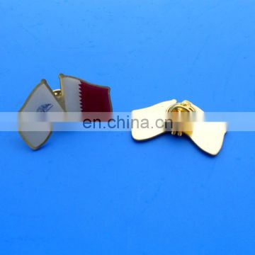 offset printing Flag of Qatar brooch pin badge