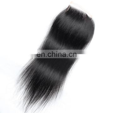 factory wholesale top grade cheap Brazilian hair lace closure with baby hair, Virgin cuticle aligned hair lace frontal piece