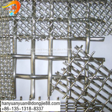 New product 316 stainless steel crimp square wire mesh