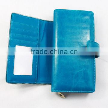Popular newest women wallet in PU leather