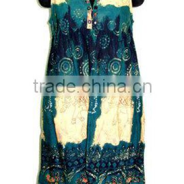 Casual Tops Summer Tops Wholesale Ladies Latest Fashion beach wrap-up Blouse Design Top In Tribal Print indian t-shurts/dress