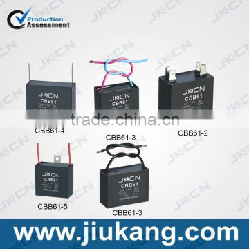 High Quality China Manufacturers cbb61 300vac fan capacitor for sale