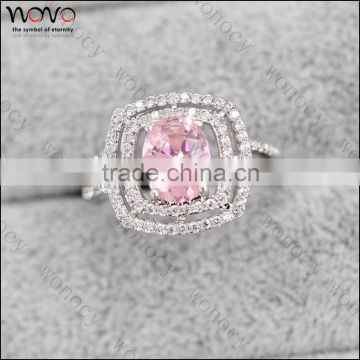 Stylish Amethyst Purple Crystal Ring Party Engagement Wedding Rings for Women Platinum Plated Women Rings