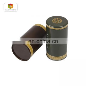 2017 newest hot selling small round tin box with click clack lid