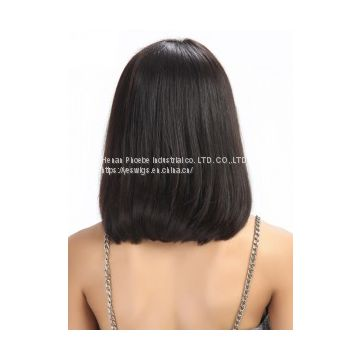 Bob Lace Front Brazilian Straight Virgin Human Hair Wigs
