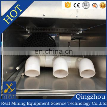Portable small multi sluice box with gold recovery mat