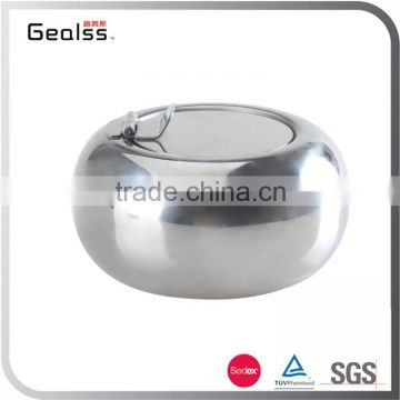 Wholesale Luxury Home Decorative Elegant Stainless Steel Cigarrete Holder Ashtray With Lid
