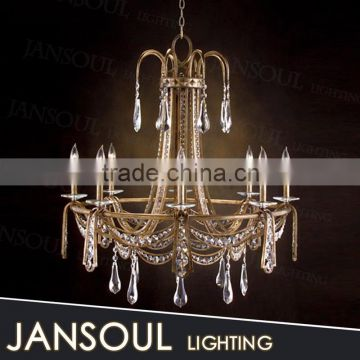 china classic crystal antique fancy wrought iron pendant lighting poly pillar candle chandelier