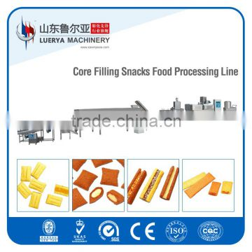Puffed core filled snack food making machine by leading extrusion machine supplier since 1988