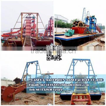 8 inches gold dredge for sale Bucket Chain Dredger gold mining