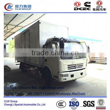 Dongfeng 4*2 type 4 ton~5 ton refrigerated box car