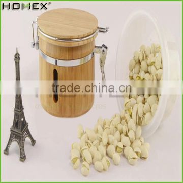 Kitchen Food Storage Canister with Bamboo Lid/Homex_Factory