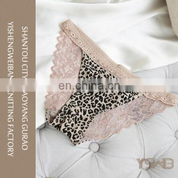Best quality color rich leopard lines fashion small panty brief