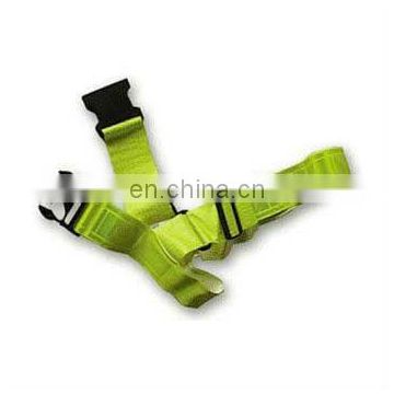 reflective PVC safety belt in yellow color for running/biking/walking