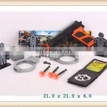 hot sale toys police play set with gun handcuffs
