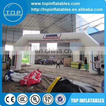 Mobile portable arch inflatable with logo advertisement