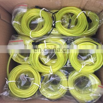 2.3mm EL wire with 3 generation , yellow color , 20m a roll